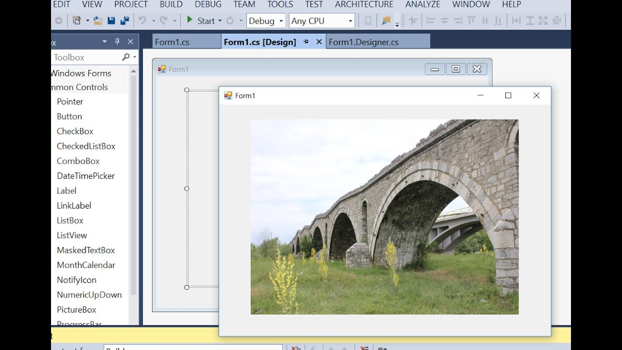 Create an image from byte array in c#