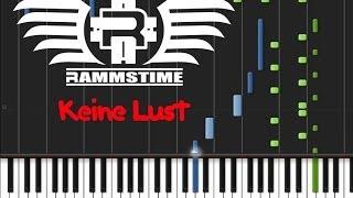 Rammstein - Keine Lust (♫) (ORIGINAL MIDI + Synthesia)