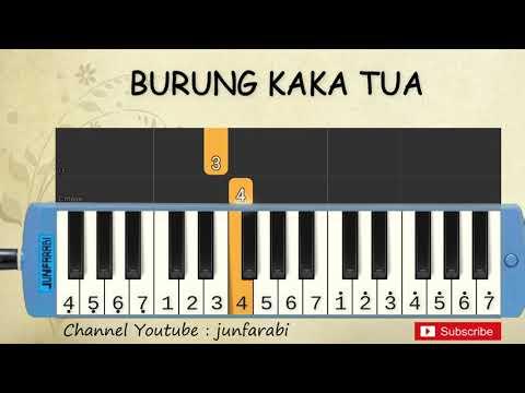 not pianika burung kaka tua - lagu daerah nusantara indonesia - belajar pianika not angka