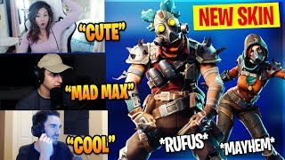 Fortnite New Skins - STREAMERS REACT *NEW* MAYHEM & RUCKUS SKINS! Fortnite Funny Moments