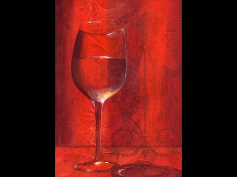 Vino how to paint transparent glass youtube for Can i paint glass with acrylic paint