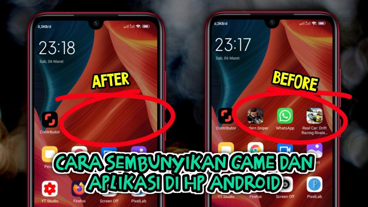 Cara Sembunyikan Aplikasi Di Hp Android Youtube