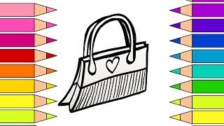 How to Draw for kids | How to Draw a Fashion Purse for Girls