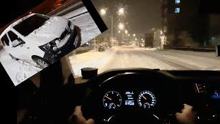 Volkswagen Transporter T6 2.0 TDI 102 hp POV Test Drive | Snow Drive, Transporter Test...