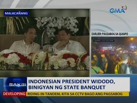Saksi: Indonesian President Widodo, binigyan ng state banquet