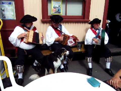 Cinque Port Morris Men Musicians at bodiam Hop Festival