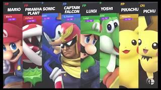 Super Smash Bros Ultimate Amiibo Fights   Request #1475 4 Team Battle on Battlefield