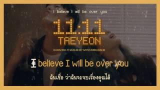 Gambar cover [KARAOKE-THAISUB] TAEYEON (태연) - 11:11