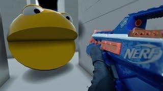Nerf War in Lego Pacman World