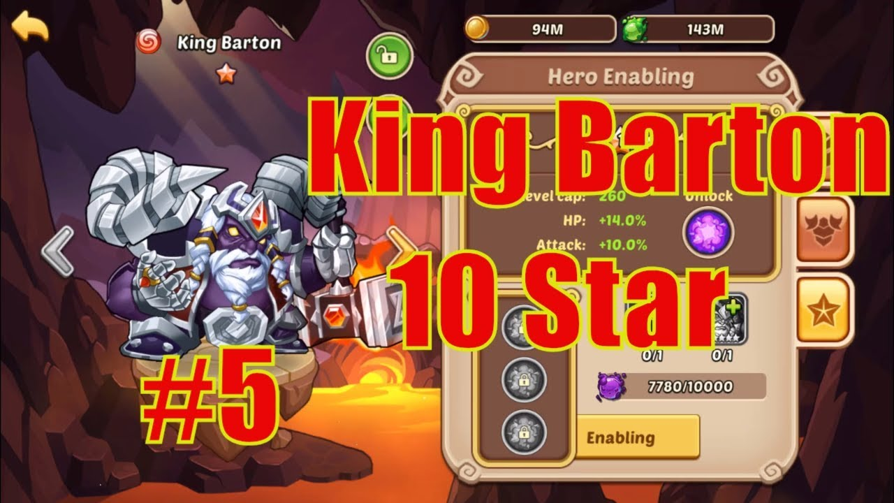 IDLE HEROES (SS) - November #5 | King Barton 10 Star