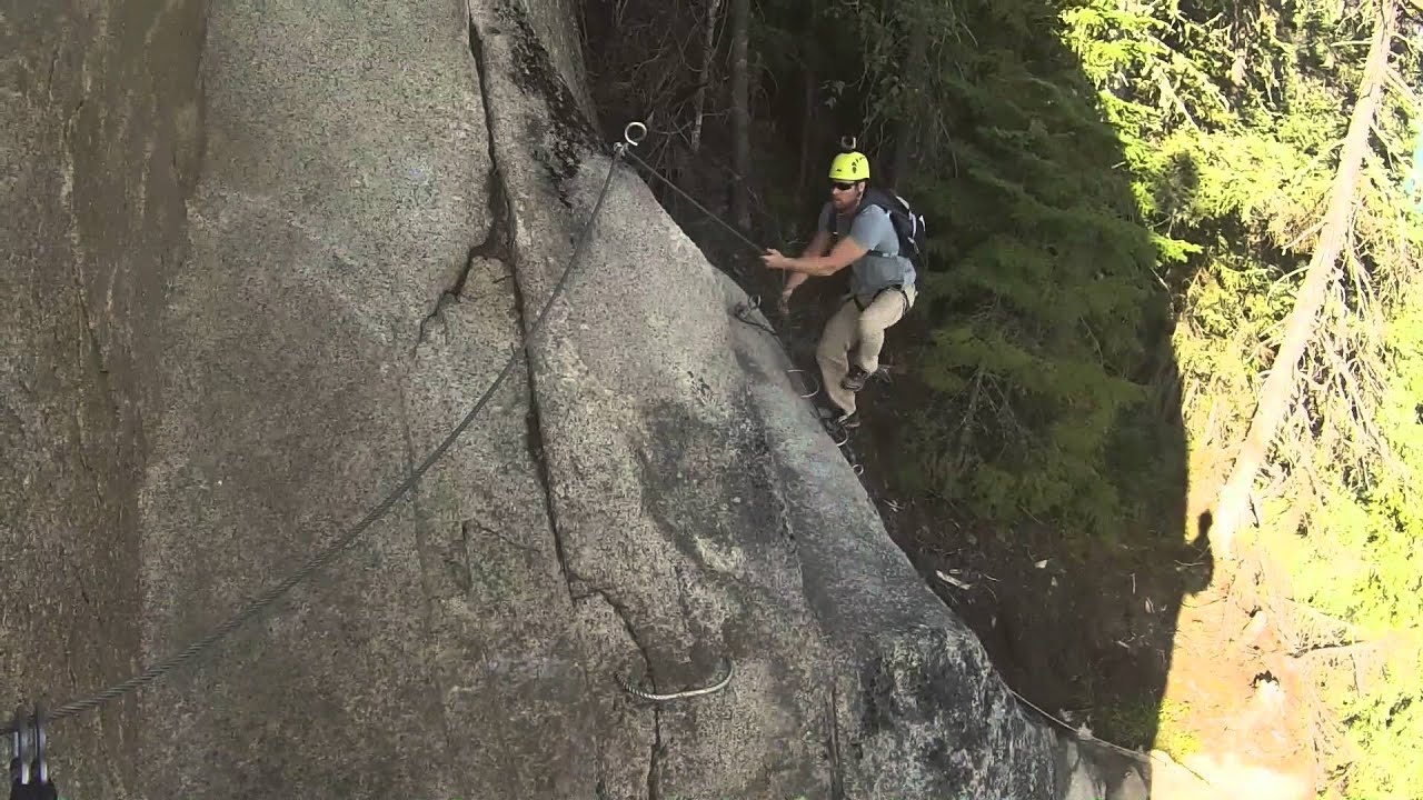 via ferrata saguenay national park in quebec youtube. Black Bedroom Furniture Sets. Home Design Ideas