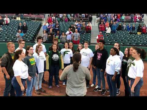 Falcon High School Choir - National Anthem at SkySox