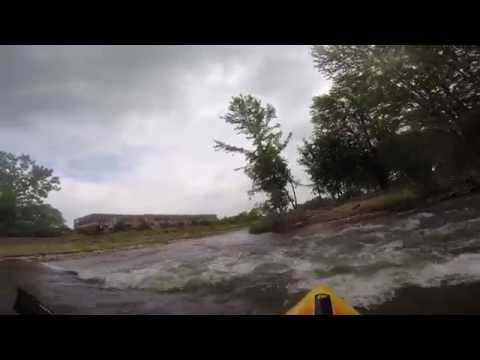 Clinton River white water kayaking