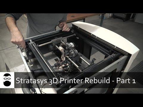 Stratasys 3D Printer Rebuild - Part 1: Overview and Teardown