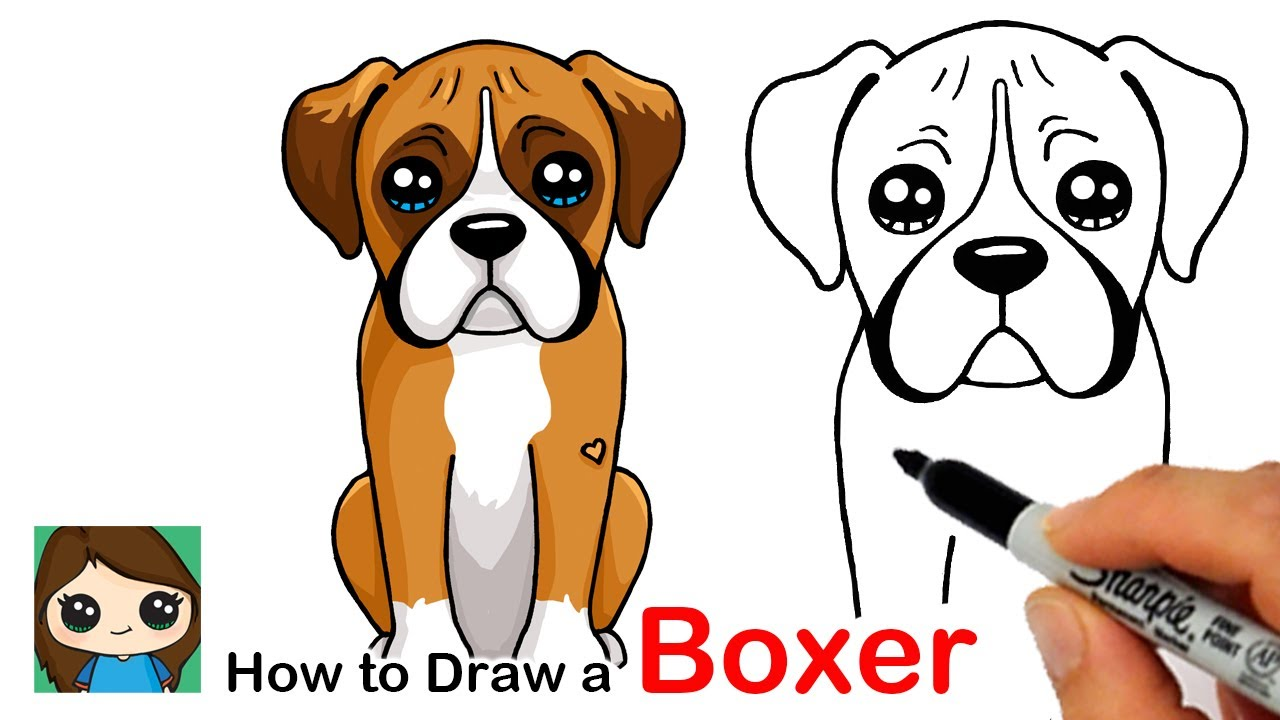 How to Draw a Boxer Puppy Dog Easy - YouTube