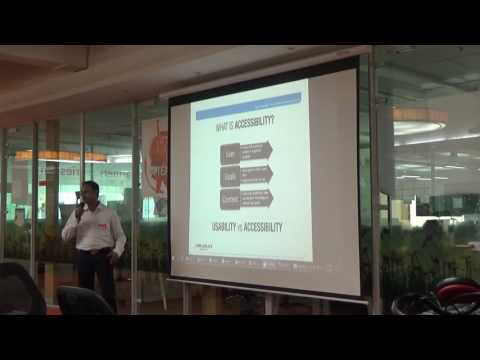 Accessibility in our Architecture - by Ashwin & Naveen at Software Architect's Meetup #10