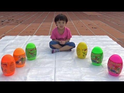 Hunting dinosaur surprise eggs – Săn và bóc trứng khủng long ❤ Anan Toysreview TV ❤