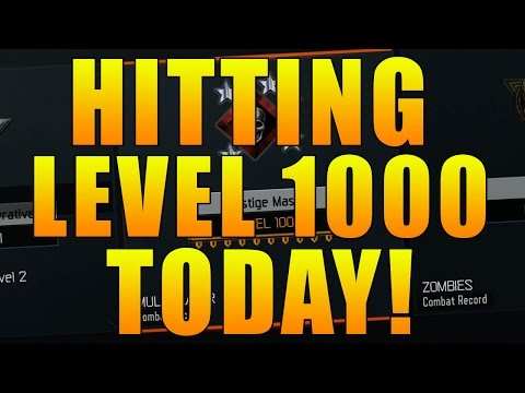 HITTING LEVEL 1000 IN CALL OF DUTY BLACK OPS 3! - Unlocking Level 1000 Prestige Icons Live Stream