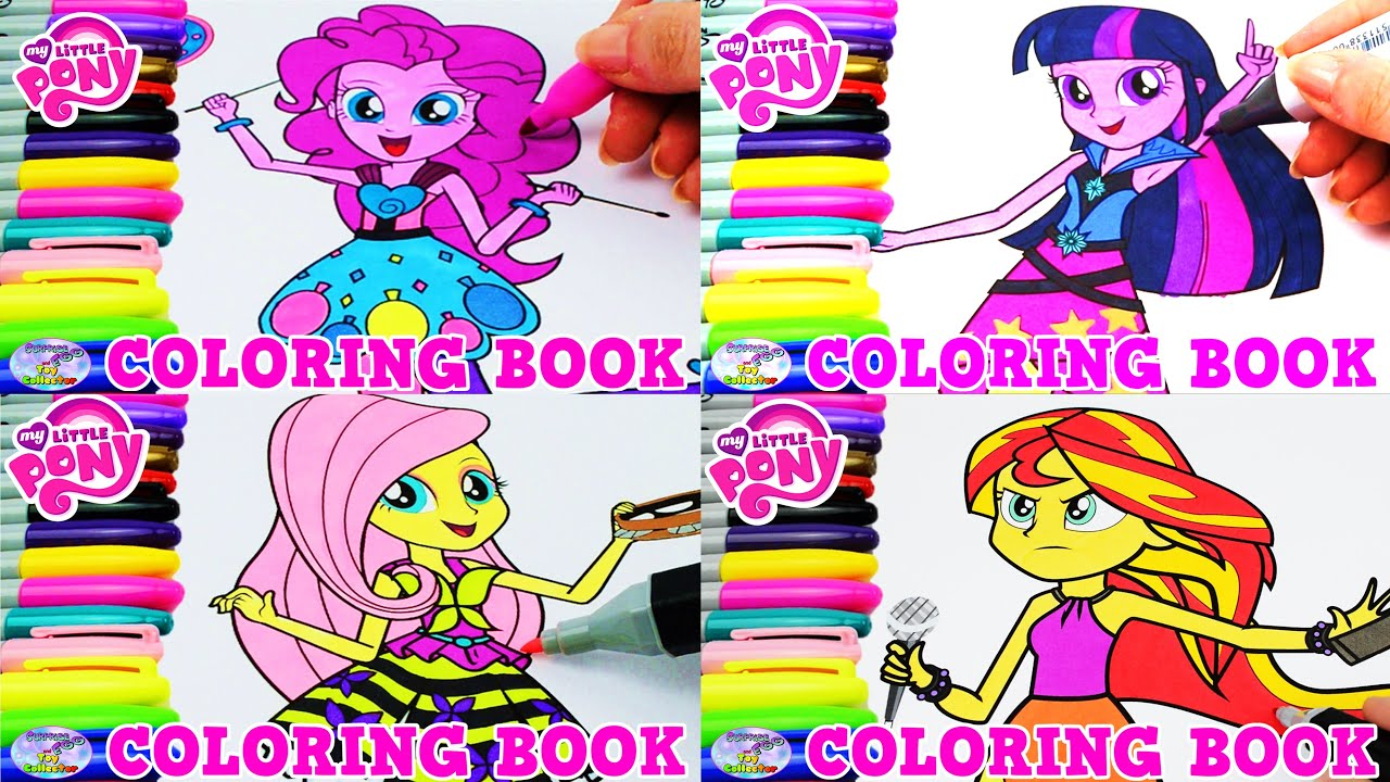 My Little Pony Equestria Girls Coloring Book Compilation Episode ...