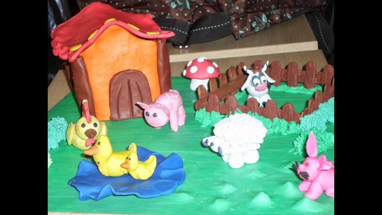Hermosas maquetas en plastilina youtube for Casitas infantiles para jardin
