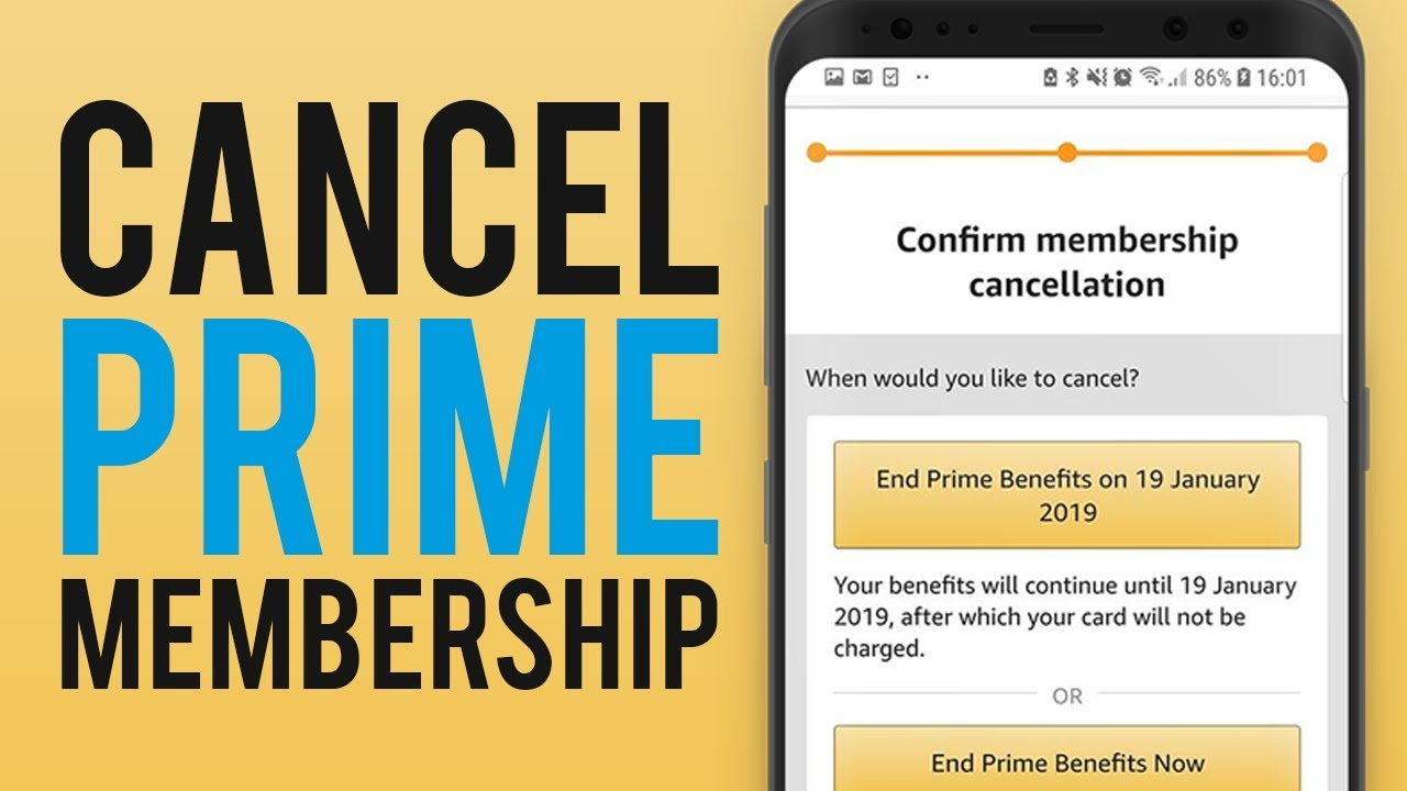 How To Cancel Amazon Prime Trial On Android Cancel Amazon Prime Free Trial Youtube