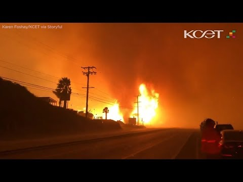 Wake Up Call - WATCH: Scary 'Firenado' Forms Along Pacific Coast Highway