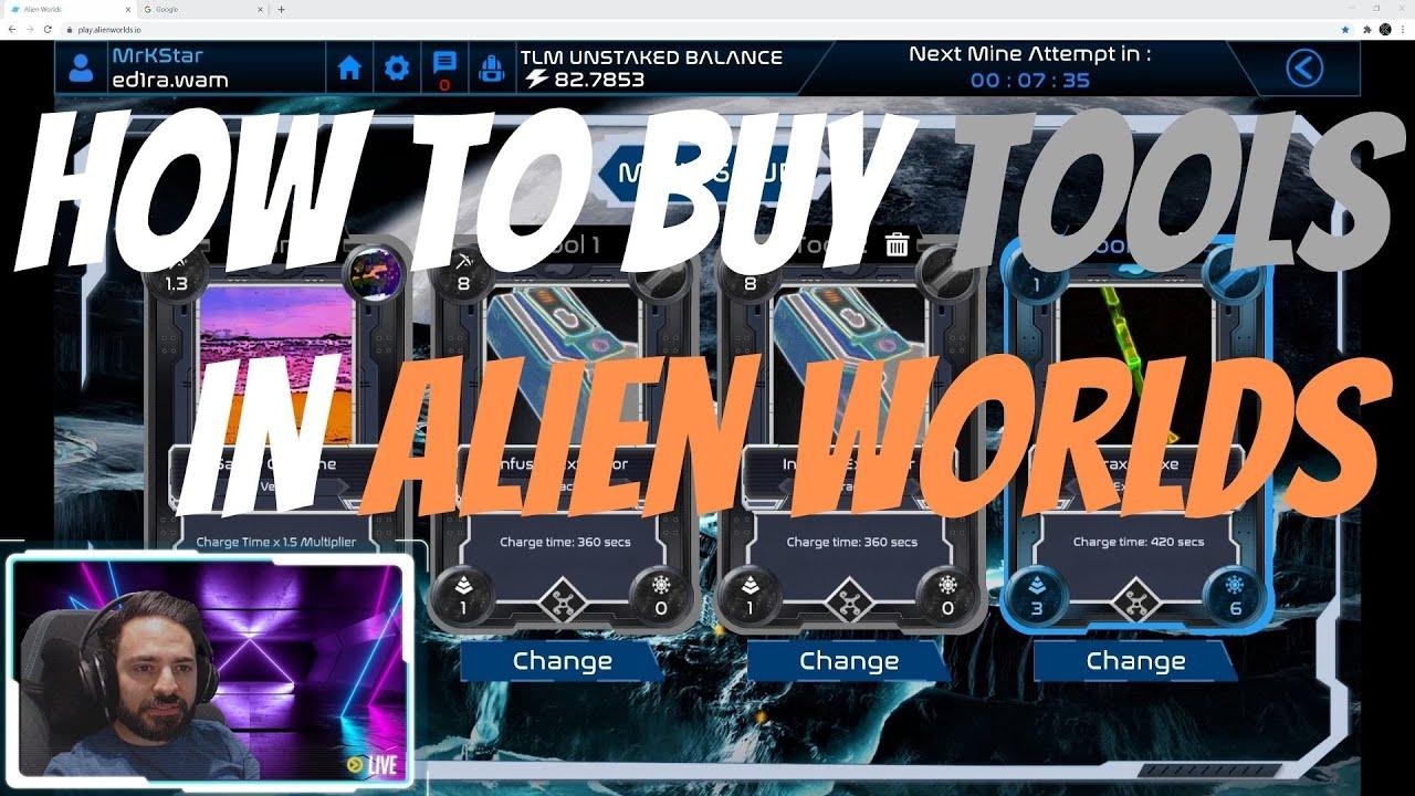 How to Buy Tools Tutorial | Alien Worlds