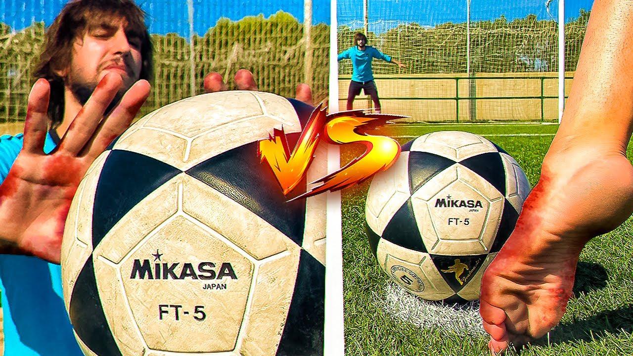 🦶🏻 DESCALZOS y SIN GUANTES 🖐🏻 vs EL BALÓN MÁS DURO !! ⚽ ¡Retos de Fútbol!