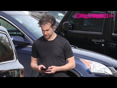 Adam Shulman (Anne Hathaway's Husband) Leaves The Gym In West Hollywood 3.10.17