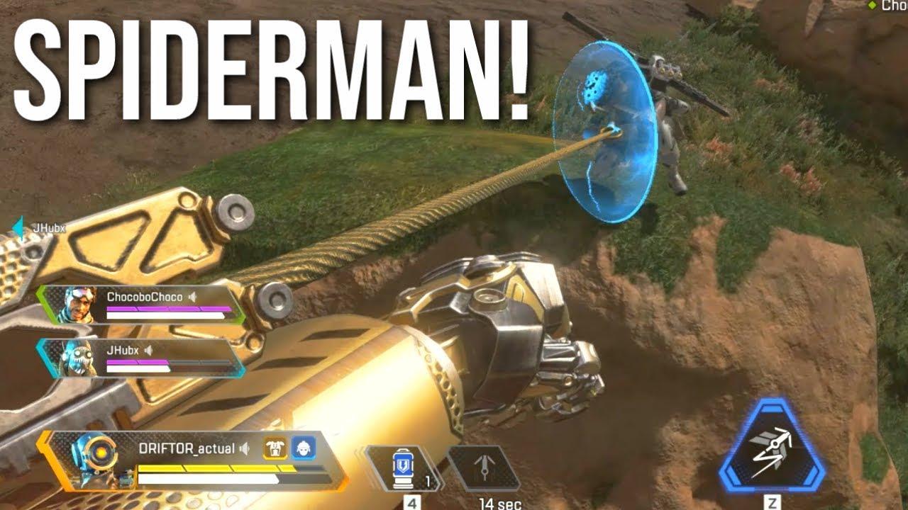 Spiderman Finisher! (Höhepunkt Apex Legends Pathfinder) + video