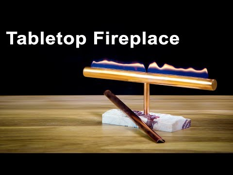 Decorative Table Top Fireplace DIY