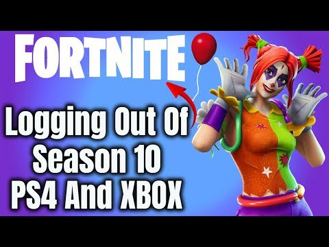 Logging Out Of Fortnite Season 10 (NEW Tutorial)