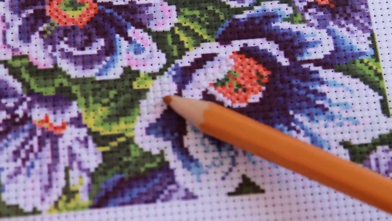 Наборы для вышивки крестом с нанесенным рисунком 79