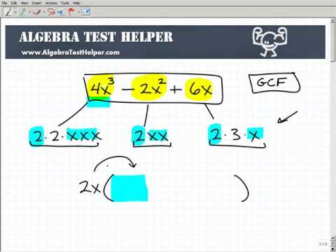 Polynomial Factoring The Greatest Common Factor Gcf Youtube