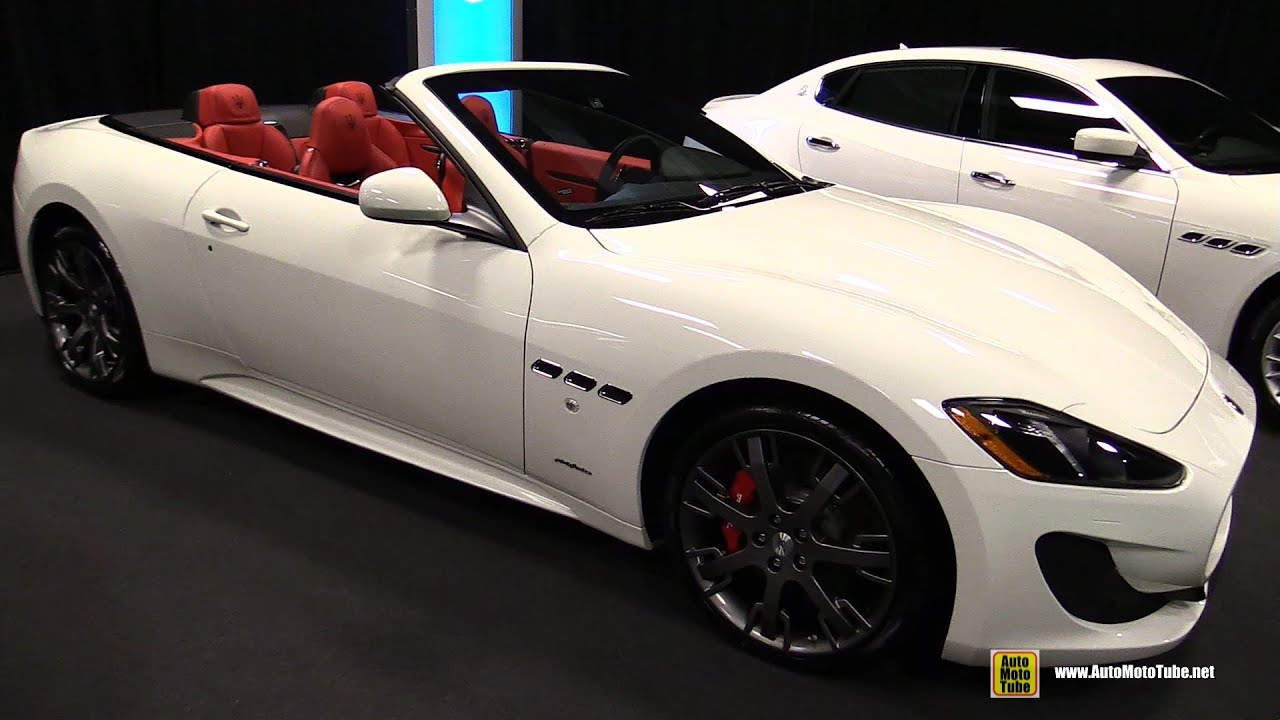 White Maserati Granturismo Red Interior