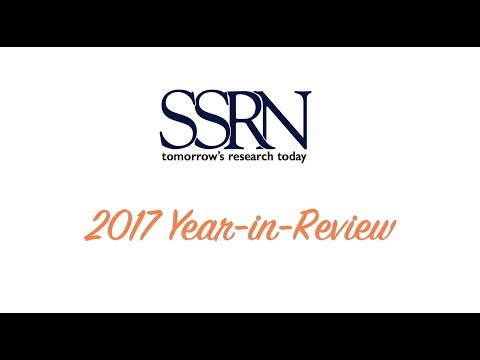 SSRN Year End Review 2017