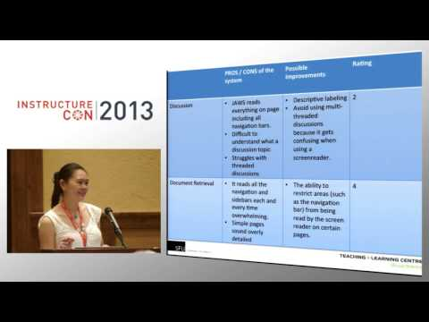 Designing for Accessibility: Issues & Tips | InstructureCon 2013