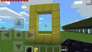 Minecraft PE 0.8.1 Mod Script- Portal Al Mundo Del Oro :D!!
