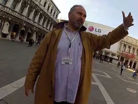 Walking tour through St. Marks Square.  Venice Italy