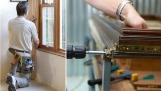 видео Монтаж деревянных окон
