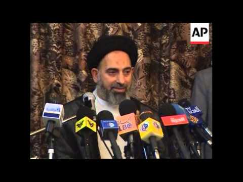 Shiite cleric says possibility Mahdi army may pull back from Najaf