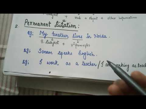 Simple Present Tense Second Video.
