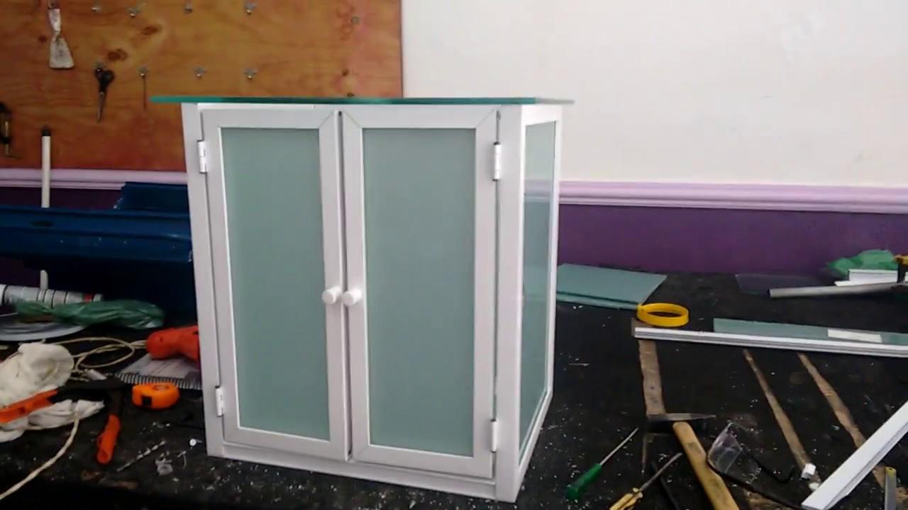 Gabinete para banheiro vou ensinar no curso serralheiro de aluminio online youtube - Perfiles de aluminio para armarios ...