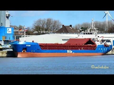 coaster RYSUM V2JO IMO 9015424 Emden cargo seaship merchant vessel KüMo