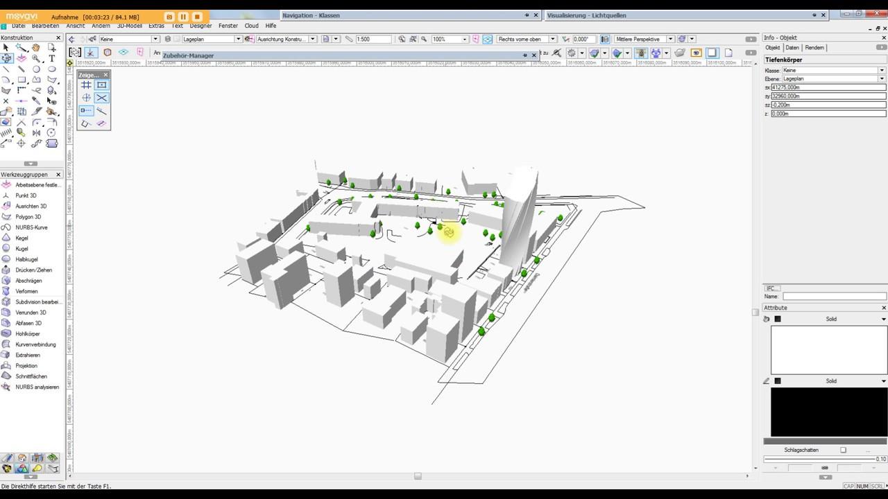 Vectorworks vom dwg zum st dtebaulichen entwurf in 3d for Zeichenprogramm fur tischler