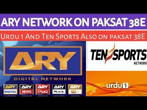 ARY Network And Ten Sports On Paksat 38E  AryNetwork Onpaksat38E