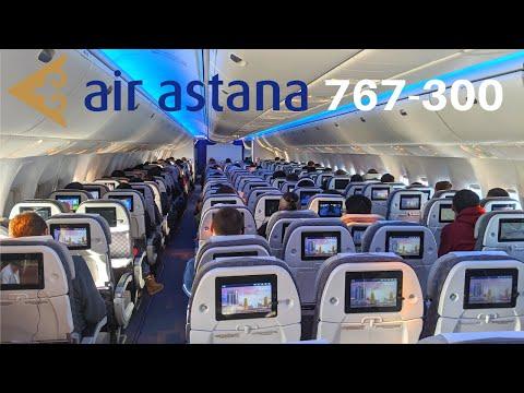 AIR ASTANA Boeing 767-300 (Economy) Almaty To Astana