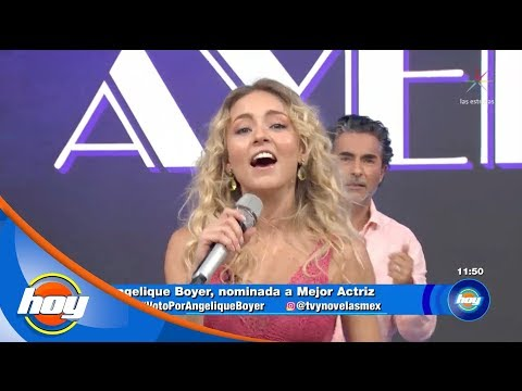 Angelique Boyer canta el tema de RBD | Canta la palabra | Hoy