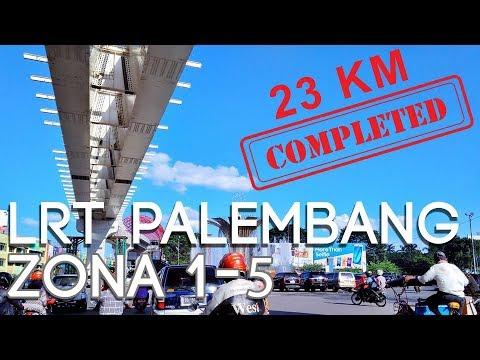 Progress LRT Palembang (Zona 1 - Zona 5) 30 Juli 2017