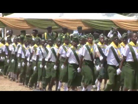 PATHFINDERS MARCH-PAST BEFORE KENYA'S PRESIDENT UHURU KENYATTA